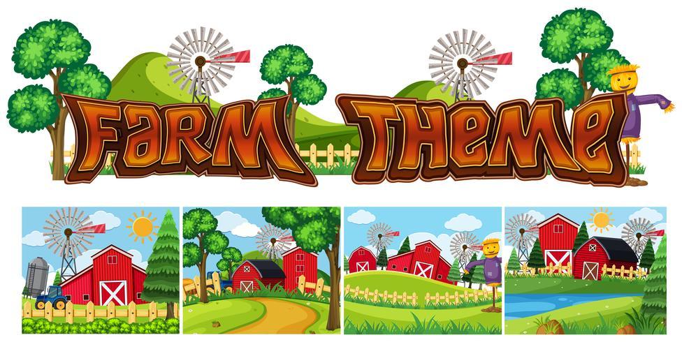 Set av gård tema