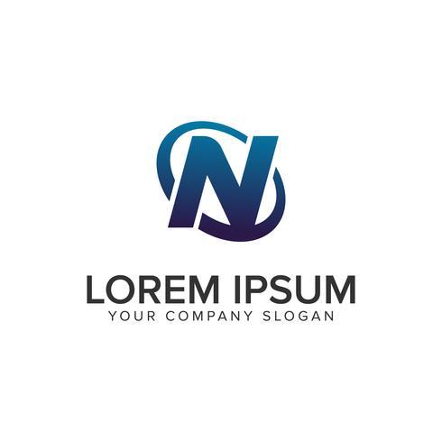Creatieve moderne letter N Logo ontwerpsjabloon concept. volledig uitgewerkt