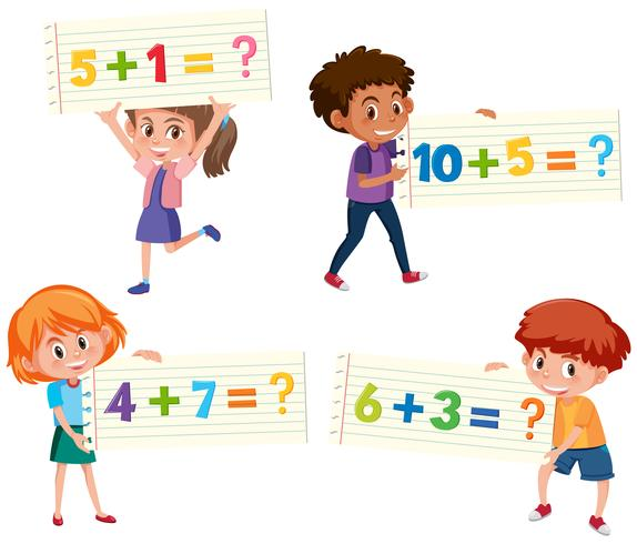 Conjunto de tarjeta adicional de matemáticas