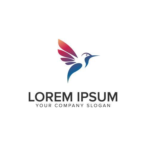 moderne vogel logo ontwerpsjabloon concept. volledig bewerkbare vector