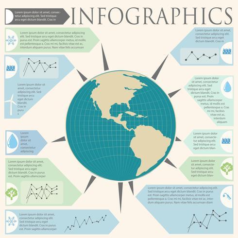 Ett informationsschema med en jordklot