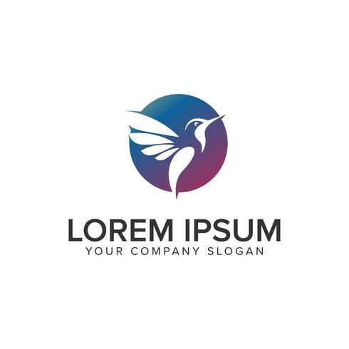 modelo de conceito de design de logotipo moderno pássaro. vetor totalmente editável