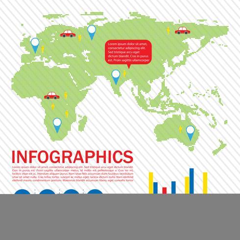 Ett grafiskt gränssnitt för en karta