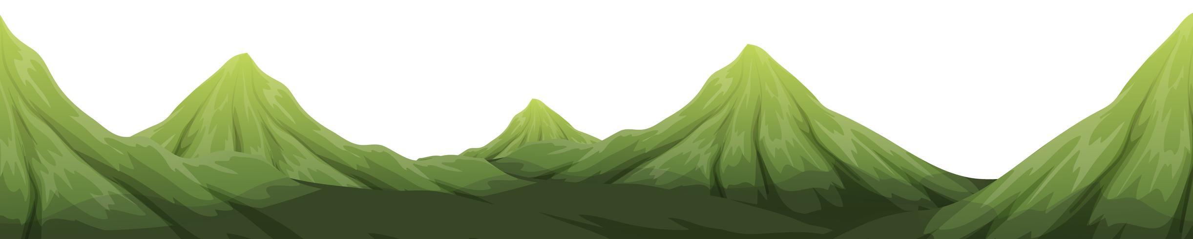 A green mountain landscape