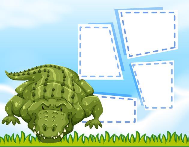 Aligator blank frame template