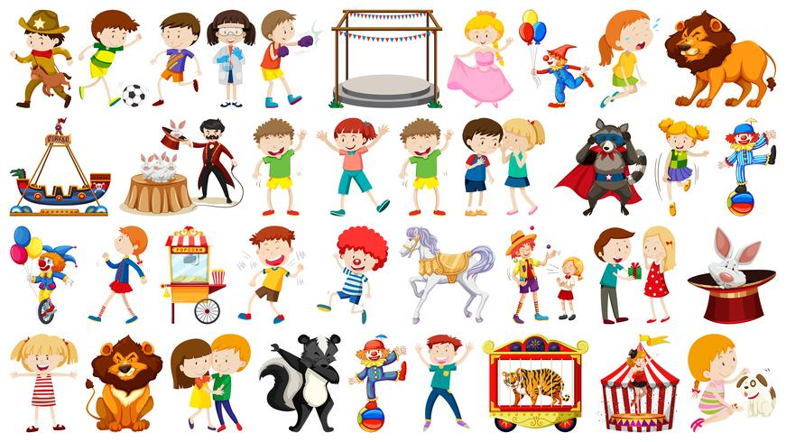 Set of different people vector