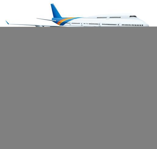 Een infokaart met een vliegtuig
