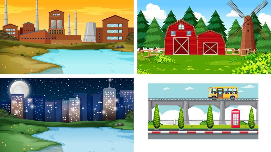 Reihe von unterschiedlichen Landschaft