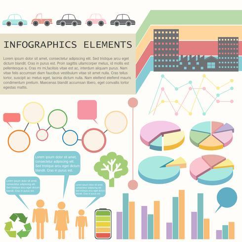 Ein Infochart mit Fahrzeugen und Menschen