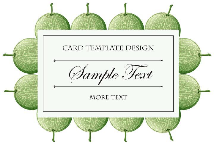 Plantilla de tarjeta con fondo de frutas de melón