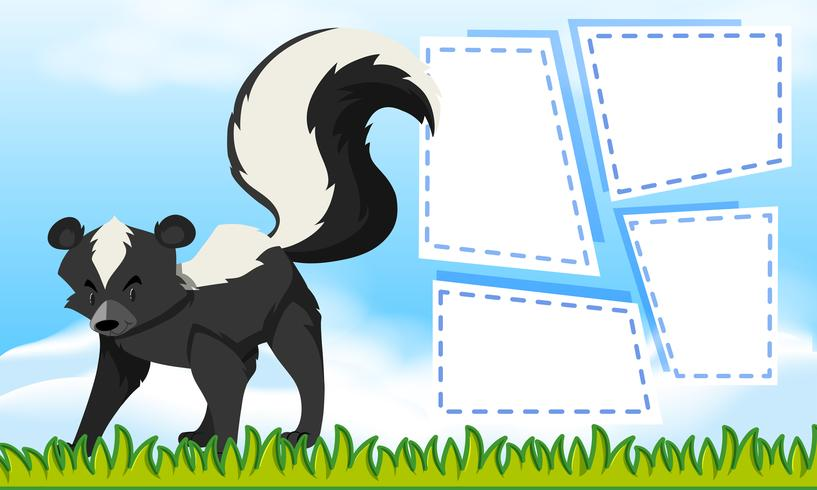 Skunk on note template