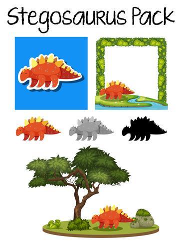 A pack of stegosaurus