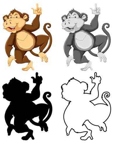 Set di scimmia charatcer
