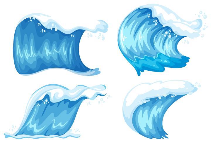 Ensemble de vague bleue