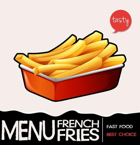 Frenchfries i röda bricka