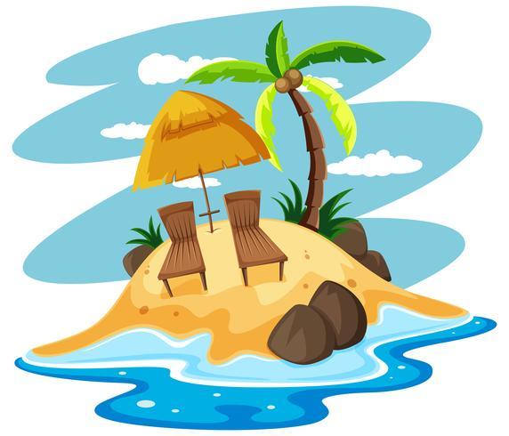 Asientos en isla privada