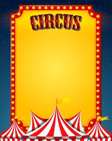Un borde de circo en blanco vector