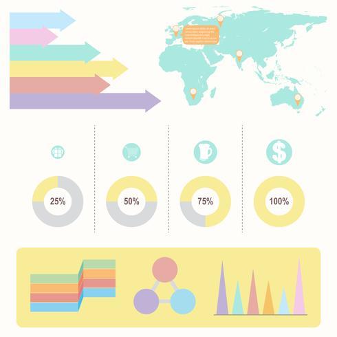 Ett informationsschema med färgglada grafer