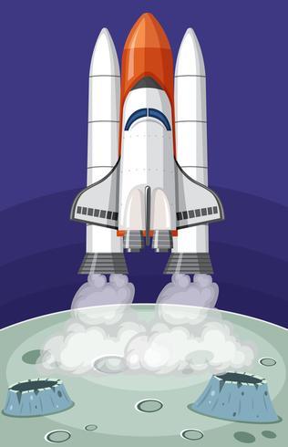 Raketenstart in den Weltraum