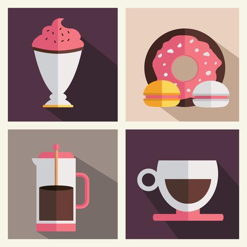 Koffie winkel pictogramserie