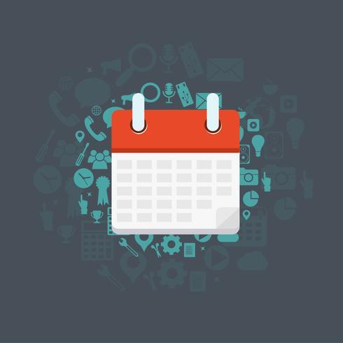 Concept pour calendrier, événement, organisateur personnel