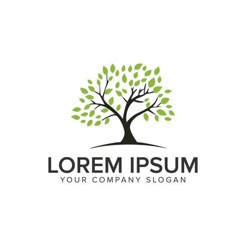 modello di concetto di design logo albero.