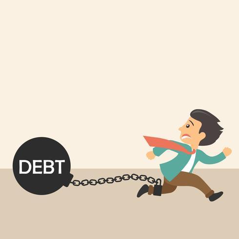 Homme enchaîné à la métaphore de ses dettes