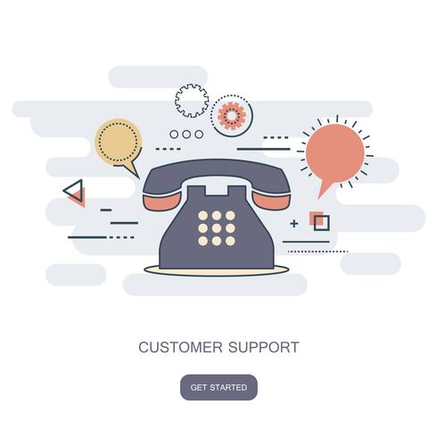 Business customer care service concept. Icons set of contact us, support, help, phone call and website click