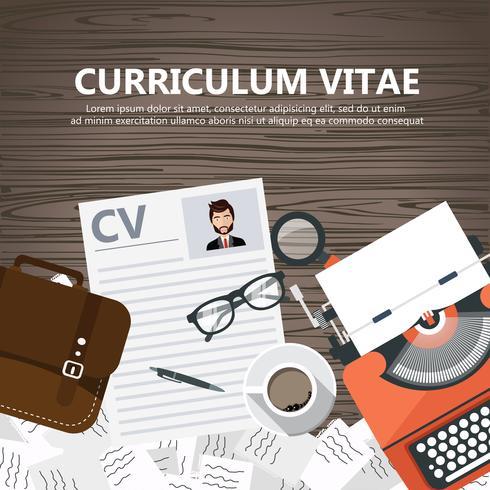 CV papiers sur le bureau