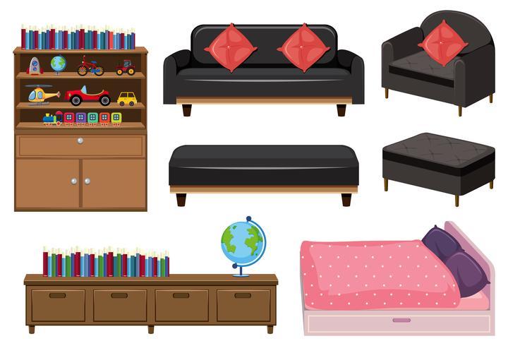 Eine Reihe von Elementen Schlafzimmer