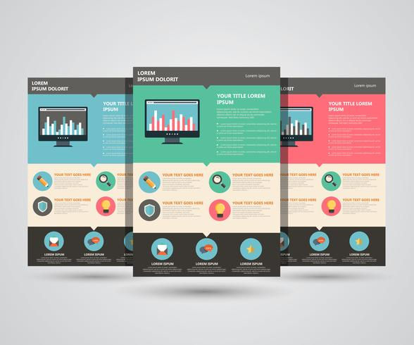 Landing page vector template