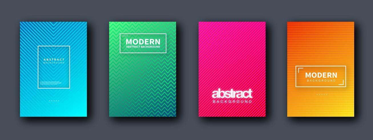 Conjunto de brochura, relatório anual, modelos de design de folheto. Ilustrações vetoriais para apresentação de negócios, papel de negócios, capa de documento corporativo e modelos de layout