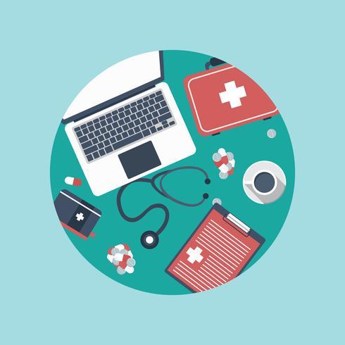 Gezondheidszorg, bescherming en apotheekconcept