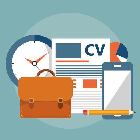 Hitta rätt person för jobbkonceptet. Anställa och rekrytera nya anställda. Platt vektor design