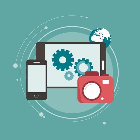 Digitalkamera mit Verbindung zu mobilen Geräten und Datenübertragung
