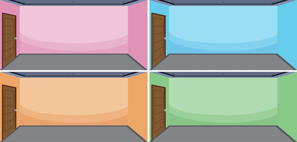Conjunto de cor diferente de sala vazia