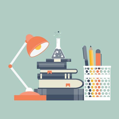 Icono de la educación adecuada. Concepto para el aprendizaje y el conocimiento. Ilustración vectorial plana