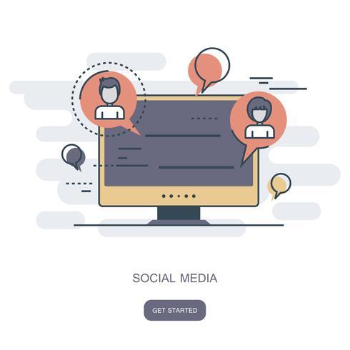 Sociaal netwerk en chatpictogram. Wereldwijde communicatie, e-mailing, weboproepen