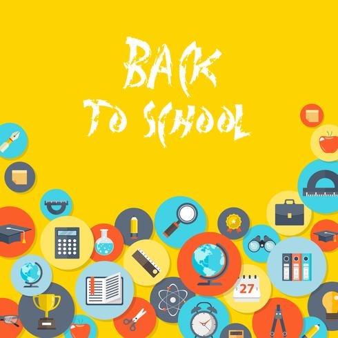 Welcome back to school concept vector