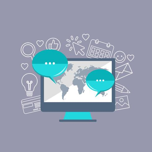 E-mail concetto di strategia di marketing