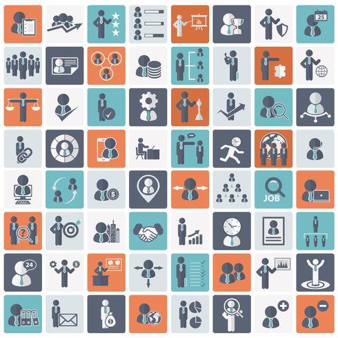 Humanressourcen und Management-Icon-Set