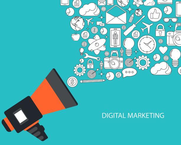 Concept de marketing numérique