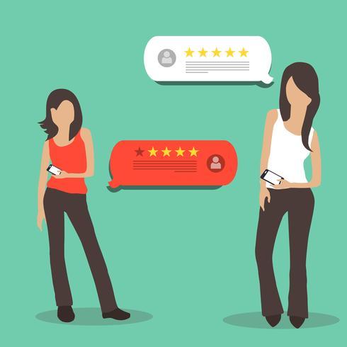 Commentaires des clients et concept d'évaluation