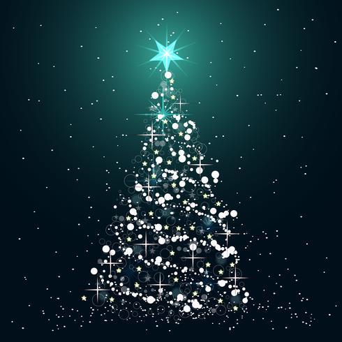 Icône de l'arbre de Noël Illustration vectorielle plane