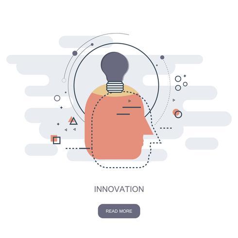 Innovazione nel concetto di business. Illustrazione vettoriale piatto