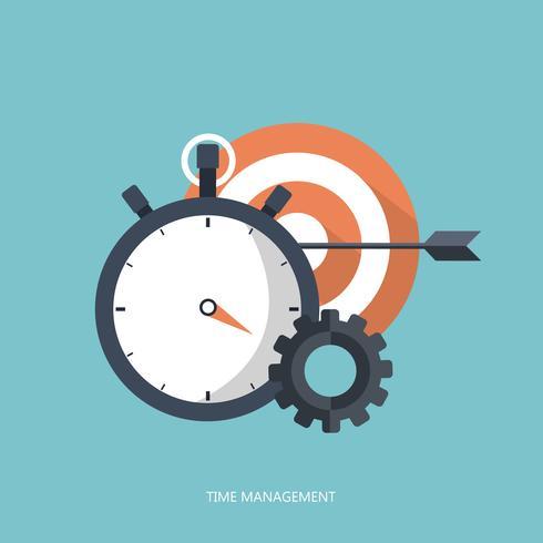 Concept de gestion du temps. Chronomètre et cible