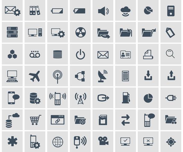 Rede social, conjunto de ícones de aplicativo analítico, móvel e web de dados