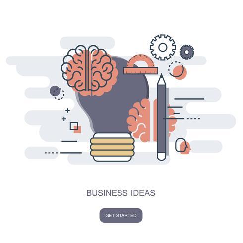 Concept d'idées d'affaires. Illustration vectorielle plane