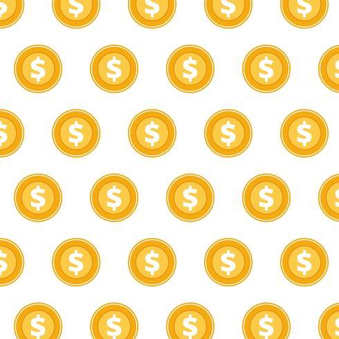 Modello di monete. Concetto per affari e finanze. Illustrazione vettoriale piatto