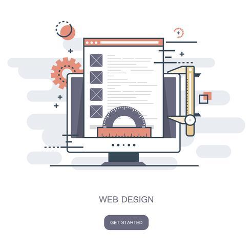 Webdesignkoncept. Platt vektor illustration